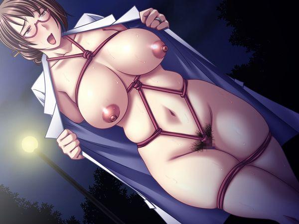 【伝統芸能】「コートを開くと中は裸」な野外露出の二次エロ画像【11】