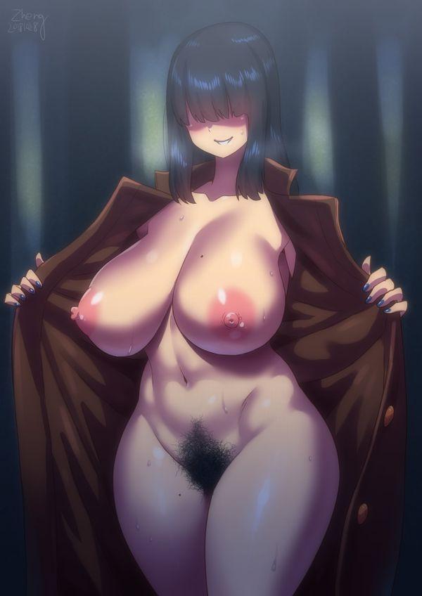 【伝統芸能】「コートを開くと中は裸」な野外露出の二次エロ画像【22】