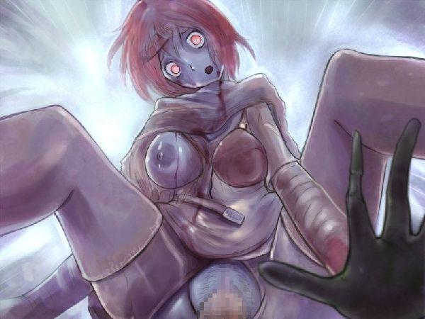 【締まり悪そう】ゾンビ娘とセックスしてる二次エロ画像【21】