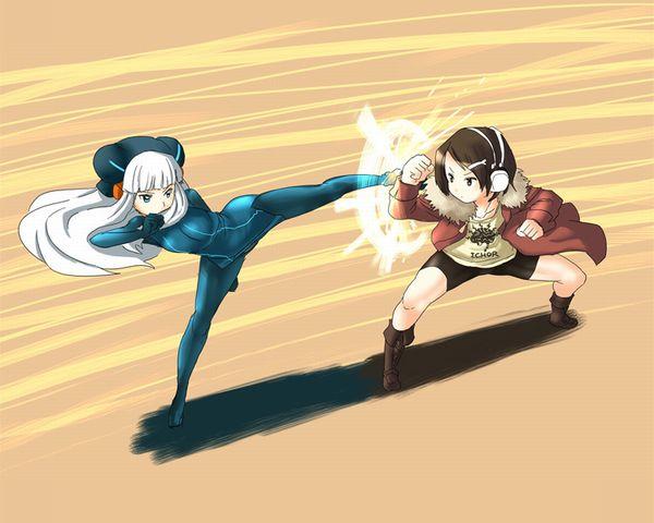 【ファイト・クラブ】素手で殴りあう女子2人の二次エロ画像【16】
