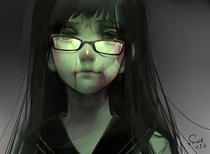 【昭和の漫画的表現】壊れたメガネをかけてる女子達の二次画像