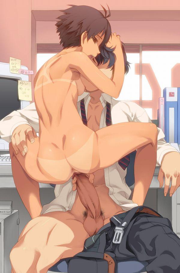 【所謂オフィスラブ】会社内でセックスしてる二次エロ画像【4】