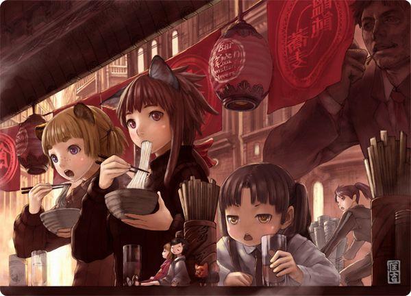【香川県民のソウルフード】うどん食ってる女子達のエロ画像【6】