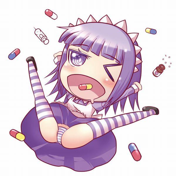 【注射よりはマシ?】何かのクスリを経口摂取してキマってる女子達の二次エロ画像【22】