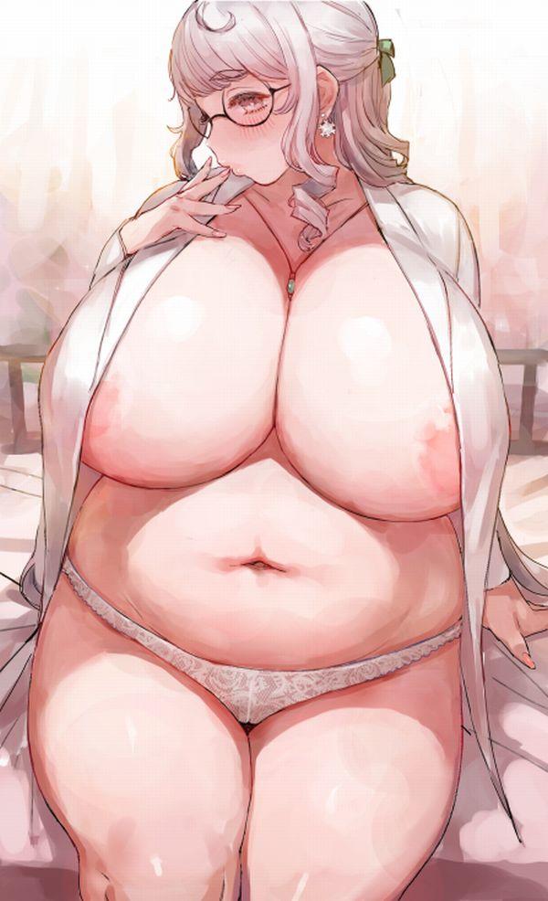 【二次】太った女の子のだらしない身体に興奮する方向けのエロ画像【4】