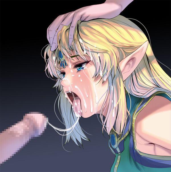 【とろろかな?】口からザーメンの糸を垂らしてる二次エロ画像【33】
