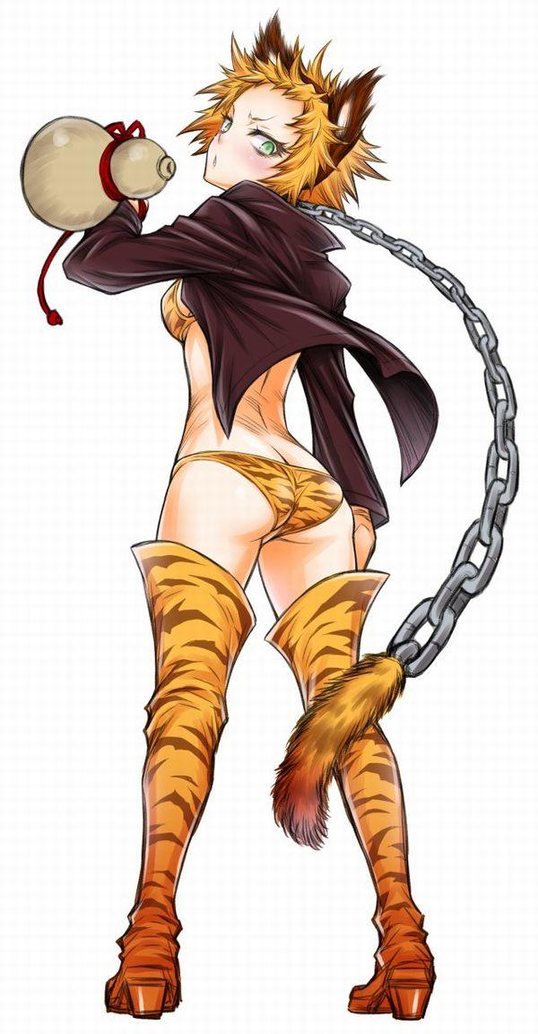【傾奇者!?】トラ柄パンツを履いた女子達の二次エロ画像【39】