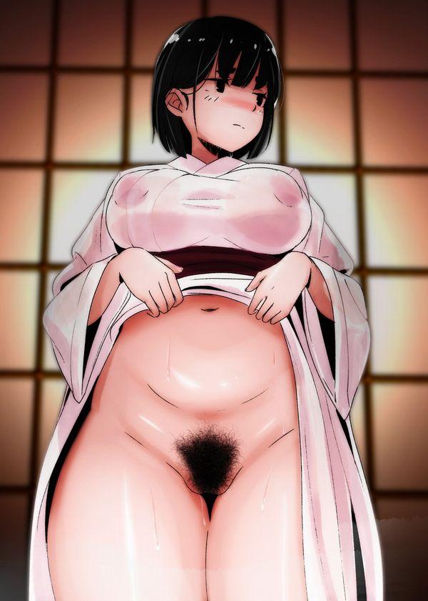 【マン毛すげーな!】剛毛女子の二次エロ画像【9】