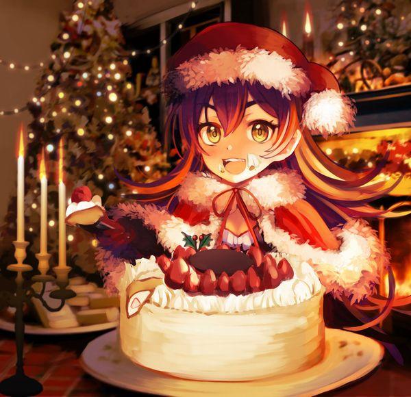 【イブだから】クリスマスケーキと女の子の二次画像【7】