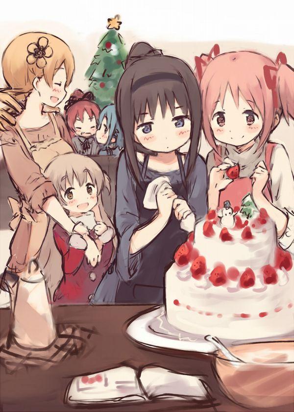 【イブだから】クリスマスケーキと女の子の二次画像【20】