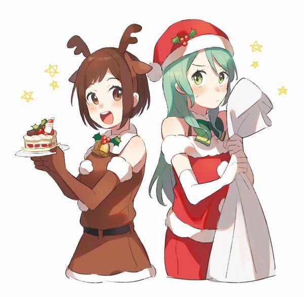 【イブだから】クリスマスケーキと女の子の二次画像【32】