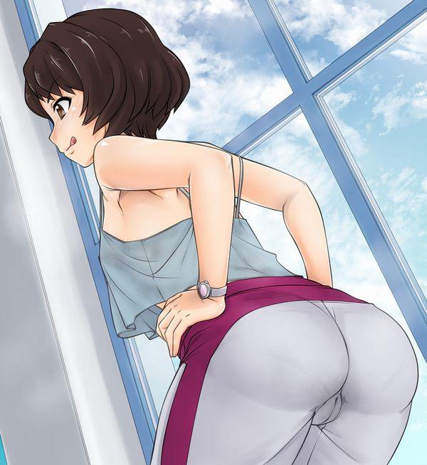 【冬の部屋着】ジャージ女子の尻を愛でる二次エロ画像【4】