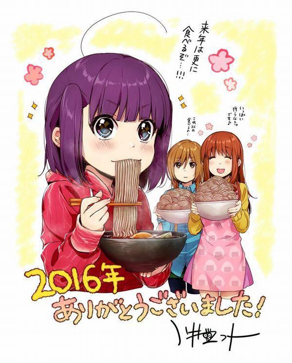 【大晦日】年越しそばを食べてる女の子達の二次画像【2】