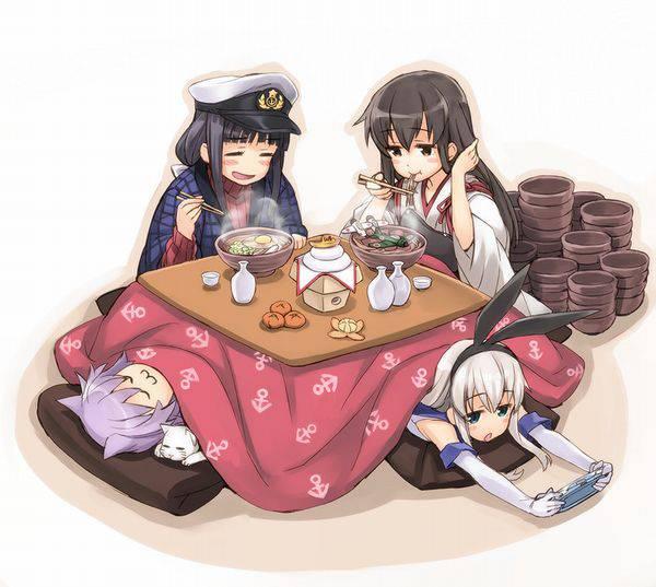 【大晦日】年越しそばを食べてる女の子達の二次画像【10】