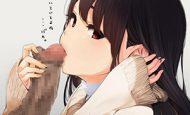 【伸びちゃう!!(泣)】女の子にちんちんの皮を引っ張られてる二次エロ画像