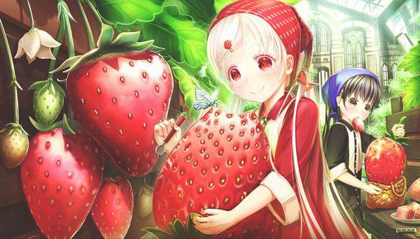【市場イチのべっぴん】いちごと美少女の二次画像【15】