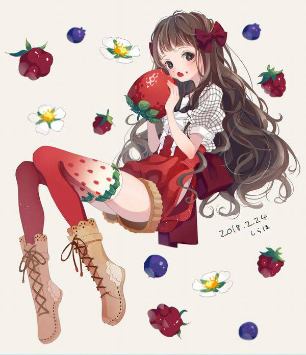 【市場イチのべっぴん】いちごと美少女の二次画像【33】