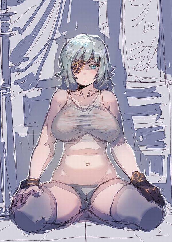【山下清は関係無い】「巨乳×白タンクトップ=破壊力」な二次エロ画像【32】