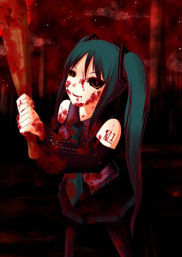 【野球経験は無さそう】女の子が血塗れのバットを持っている二次リョナ画像【8】