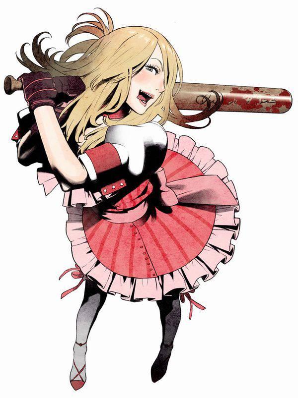 【野球経験は無さそう】女の子が血塗れのバットを持っている二次リョナ画像【13】