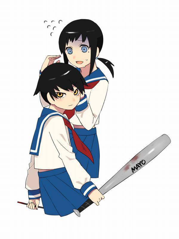 【野球経験は無さそう】女の子が血塗れのバットを持っている二次リョナ画像【27】