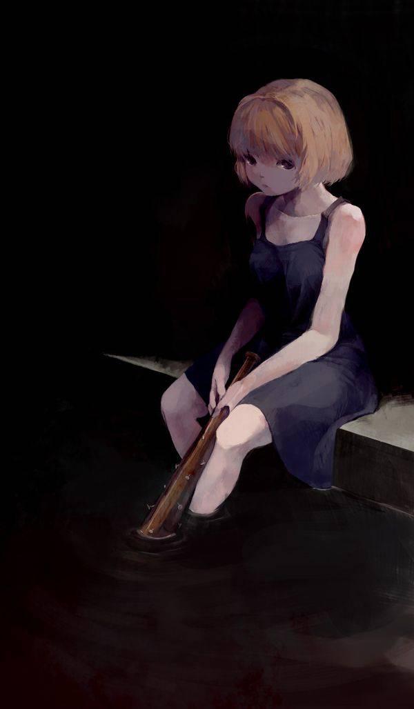 【野球経験は無さそう】女の子が血塗れのバットを持っている二次リョナ画像【31】