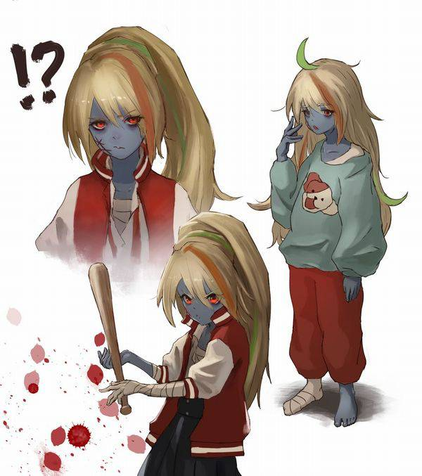 【野球経験は無さそう】女の子が血塗れのバットを持っている二次リョナ画像【35】