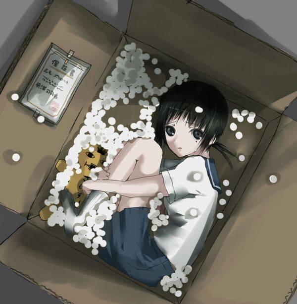 【誘拐かな?】箱詰めされてる女の子達の二次エロ画像【3】