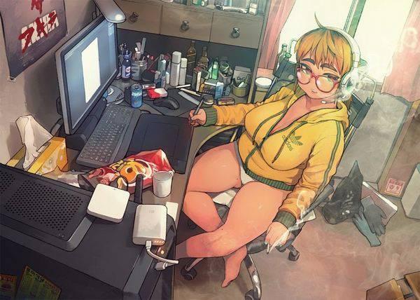 【オタ部屋】自室で過ごす腐女子の二次画像【14】