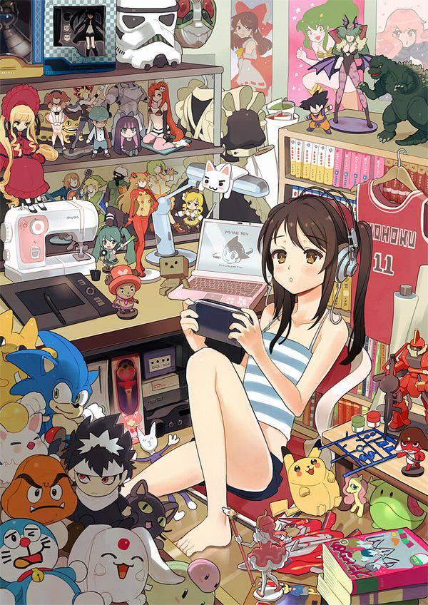 【オタ部屋】自室で過ごす腐女子の二次画像【16】