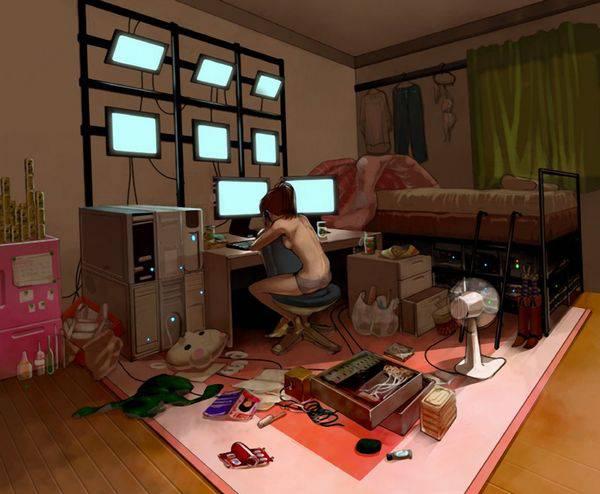 【オタ部屋】自室で過ごす腐女子の二次画像【19】