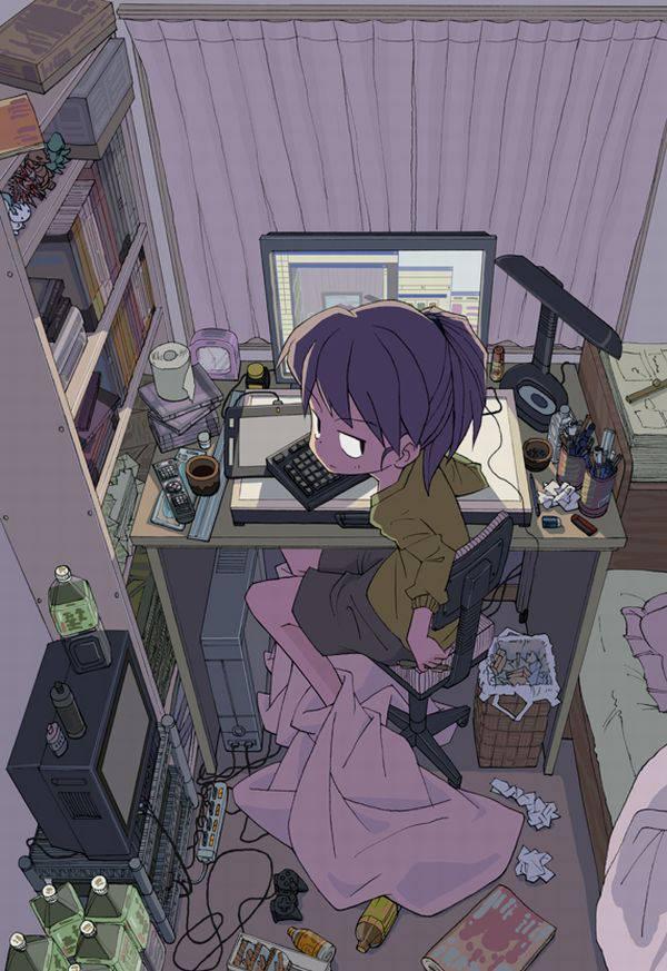 【オタ部屋】自室で過ごす腐女子の二次画像【31】
