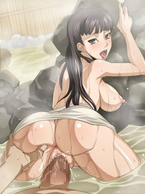 【貸切風呂あるある】温泉でセックスするカップル達の二次エロ画像【19】