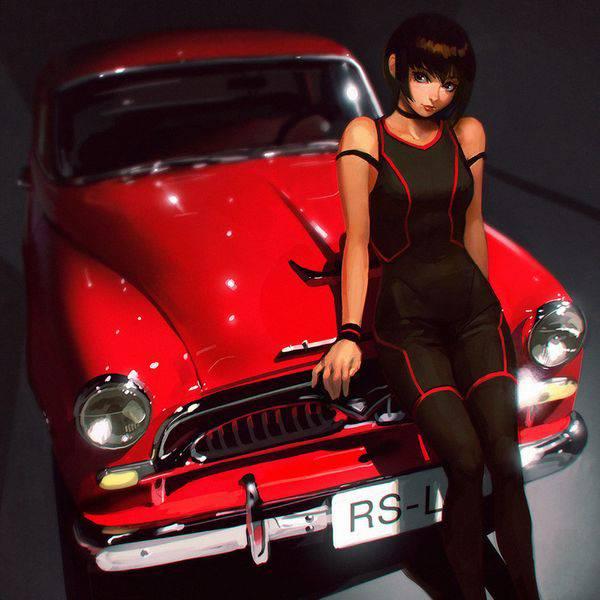 【渋谷ハロウィンの思い出】車のボンネットに座る女子達の二次画像【33】