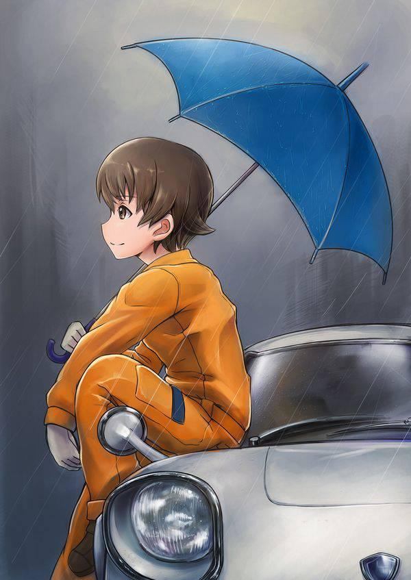 【渋谷ハロウィンの思い出】車のボンネットに座る女子達の二次画像【35】