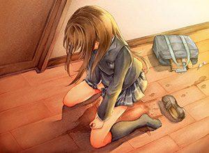 【登校拒否不可避】オシッコ漏らした女子高生の二次エロ画像
