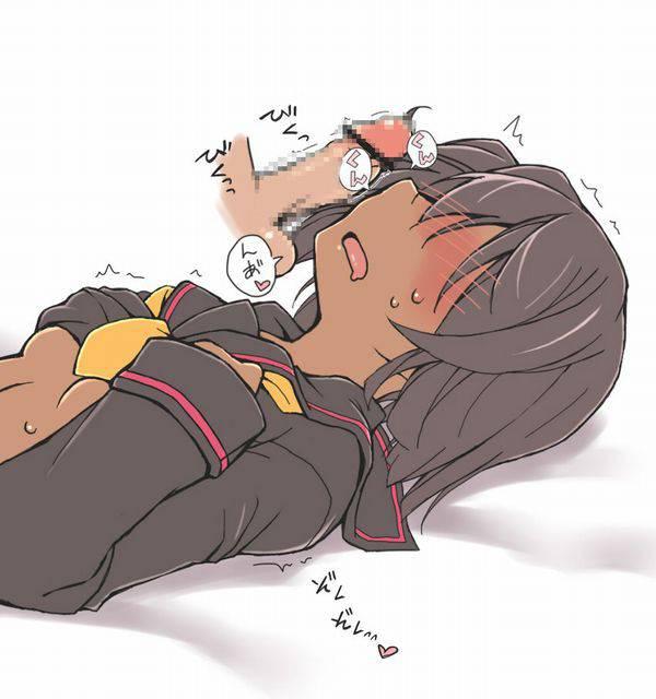 【キくぜ!】チンポのニオイを嗅ぐ女子達の二次エロ画像【15】