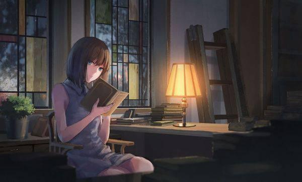 【何読んでるの?】読書を嗜む文学美少女達の二次画像【5】