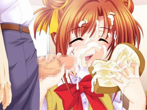 【食ザー】ザーメンぶっかけられた食べ物を当たり前のように食す女子達の二次エロ画像【37】