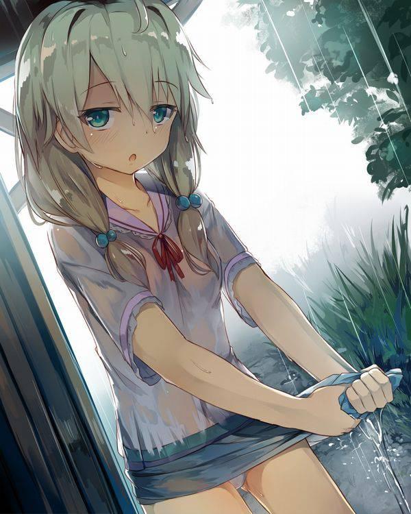 【濡れちゃった】傘を忘れたJK達の二次エロ画像【20】