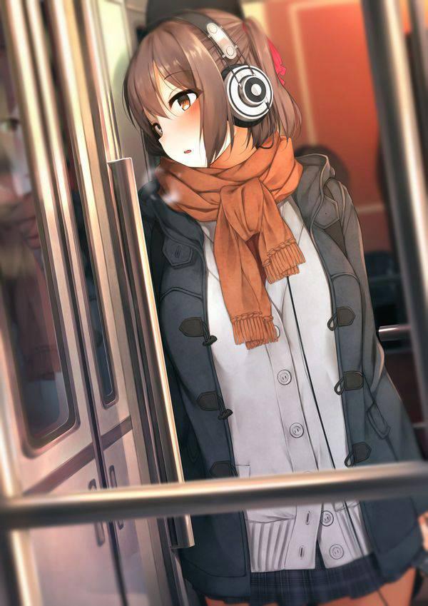【日常の風景】電車に乗る女子達の二次画像【3】