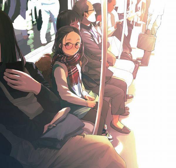 【日常の風景】電車に乗る女子達の二次画像【15】