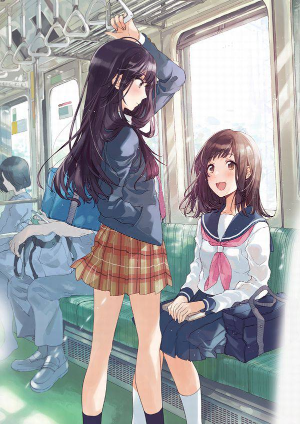 【日常の風景】電車に乗る女子達の二次画像【37】