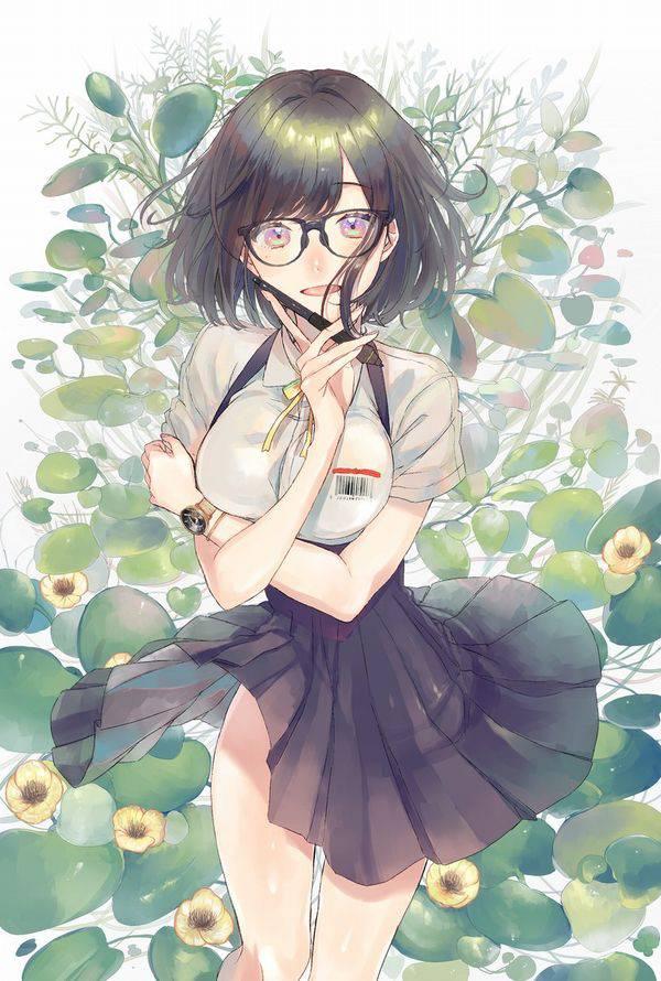 【美術部とかに居そう】メガネ巨乳の二次エロ画像【33】