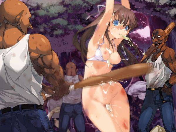 【ドンドンドン鈍器♪】物で殴られる女子達の二次リョナ画像【6】