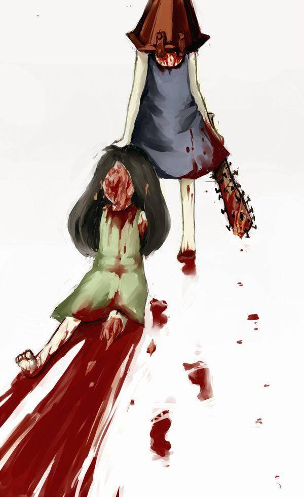 【ドンドンドン鈍器♪】物で殴られる女子達の二次リョナ画像【12】