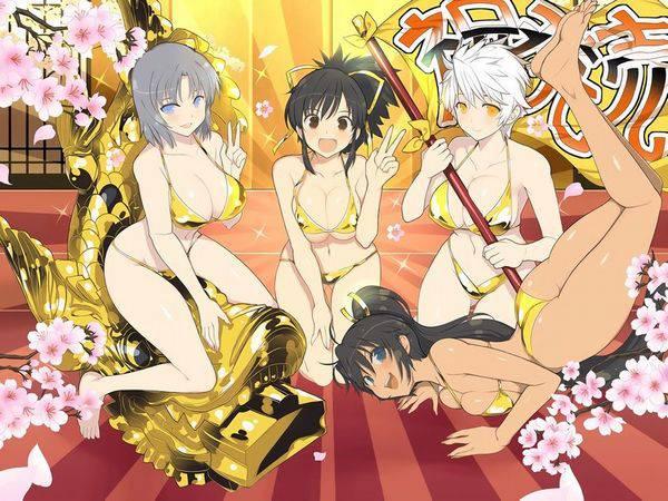 【ゴールドセイント!?】黄金色のビキニを身に纏っている女子達の二次エロ画像【14】