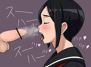 【キくぜ!】チンポのニオイを嗅ぐ女子達の二次エロ画像