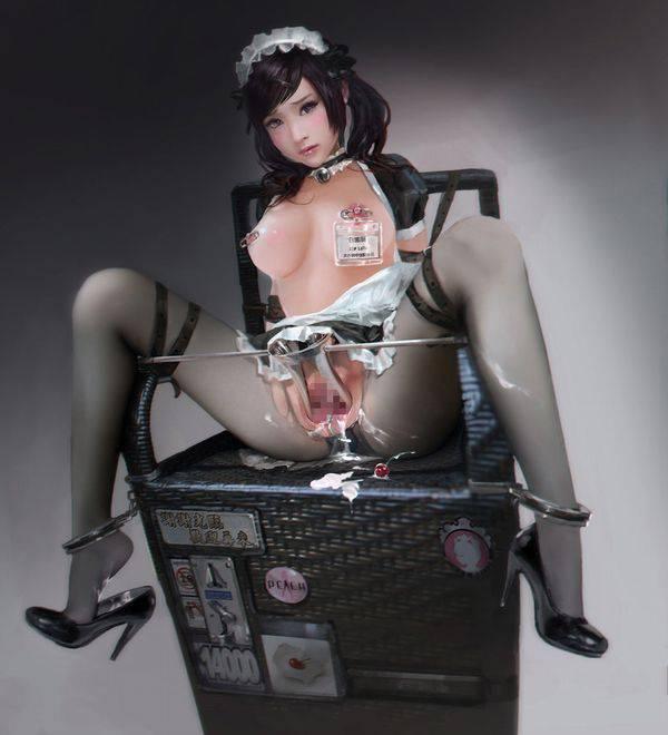 【私…内臓見られちゃってる…///】マンコにクスコ挿入られてる女子達の二次エロ画像【31】