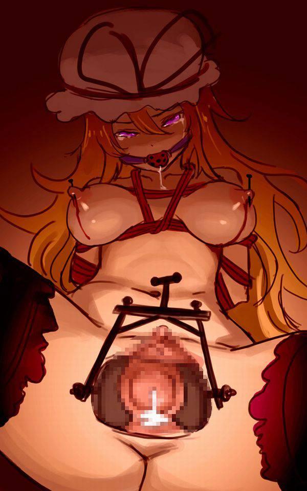 【私…内臓見られちゃってる…///】マンコにクスコ挿入られてる女子達の二次エロ画像【32】